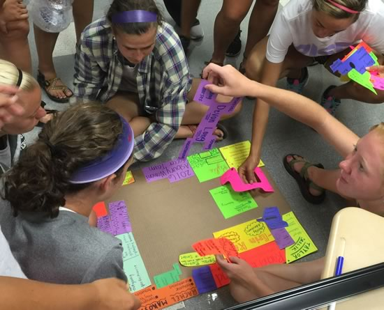Stained Glass Window Team Building with Asbury Womens Soccer