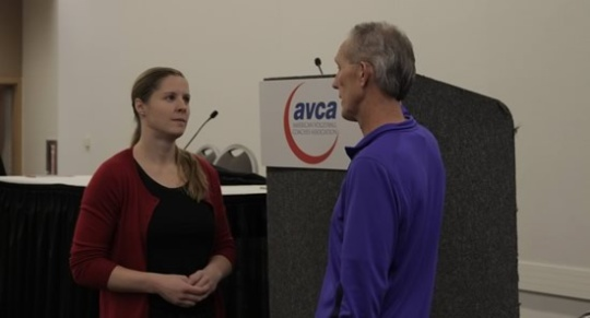 Meeting the Coaches at AVCA Volleyball Convention 2016